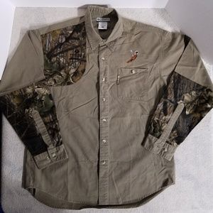 Columbia Brown Hunting/Shooting Button Up Shirt
